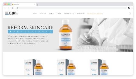 reform skincare professional web & graphic design dublin ireland as design