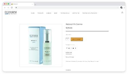 reform skincare shop web & graphic design dublin ireland as design