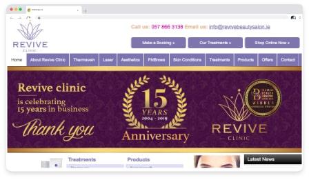 revive clinic web & graphic design dublin ireland as design