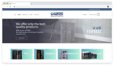we sell safes web & graphic design dublin ireland as design