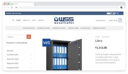 we sell safes . web & graphic design dublin ireland as design