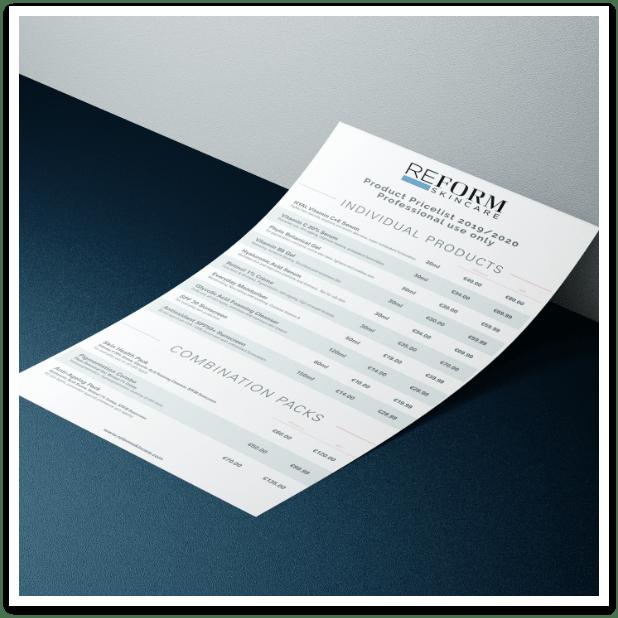 grpahic design & print dublin ireland swords Price List